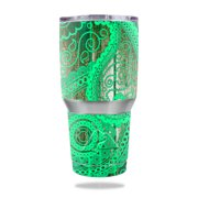 Skin Decal Wrap for Ozark Trail 30 oz Tumbler Abstract Black