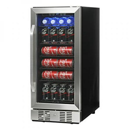 NewAir Compact 96 Can Built-In Beverage Refrigerator, Stainless