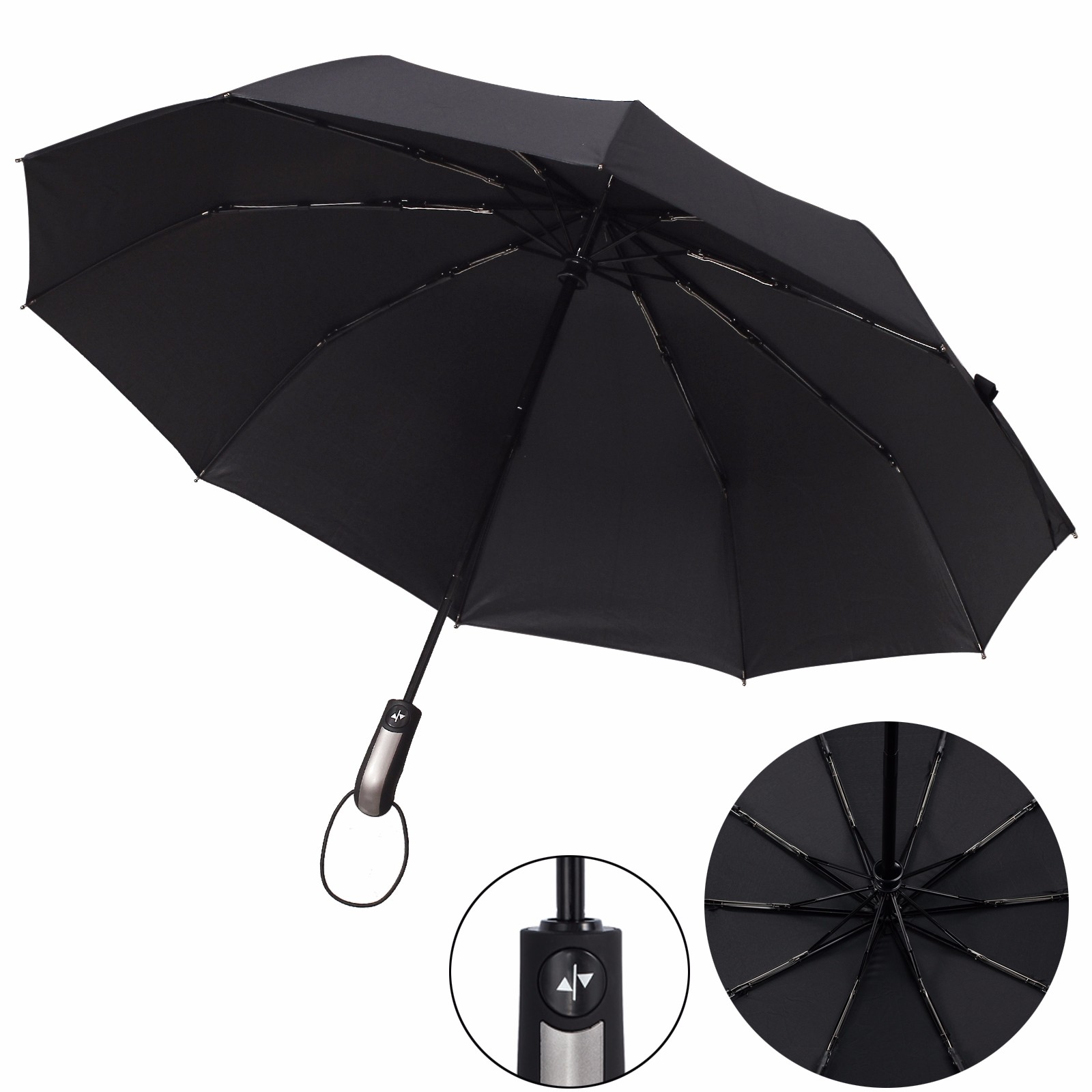 Mens Rain and Rain Umbrella RXY-UMBRELLA Fully Automatic Collapsible Umbrella Color : B