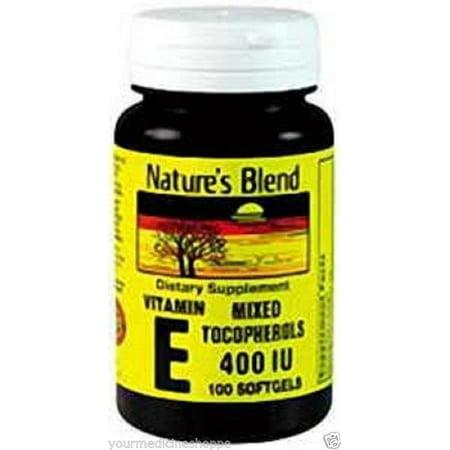 Natures Blend Vitamin E 400Iu Mtc Softgels  100Ct 079854900606A641