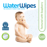 WaterWipes Sensitive Hand, Face and Baby Textured Wipes with Soapberry, Unscented 9x60pk (540 Wipes)