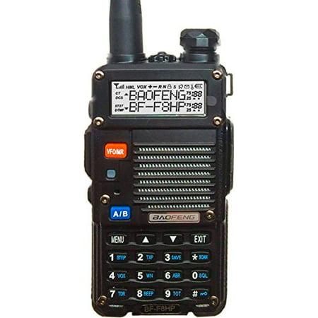 BaoFeng BF-F8HP 8-Watt Dual Band Two-Way Radio (136-174Mhz VHF & 400-520Mhz UHF) Includes Full (250 Vhf Radio)