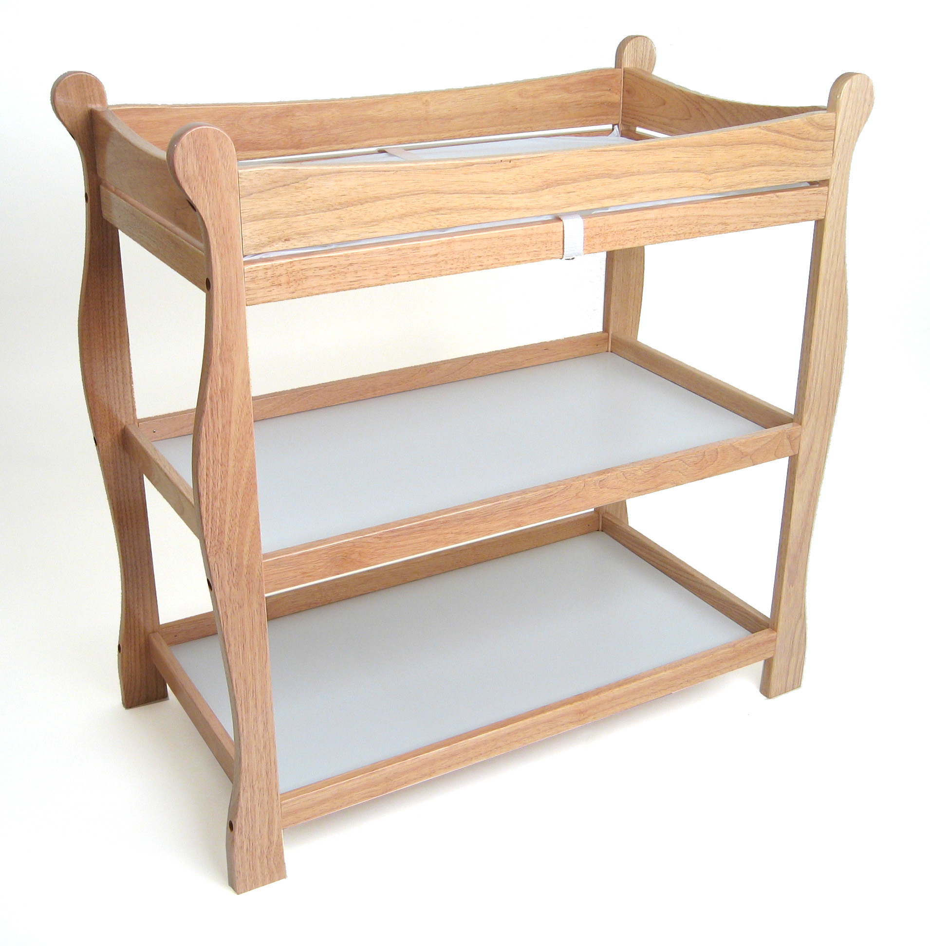 Merveilleux Badger Basket Sleigh Style Baby Changing Table   Natural