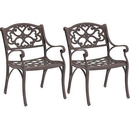 Home Styles Biscayne Outdoor Dining Arm Chairs, Set of 2, Multiple Finishes ()