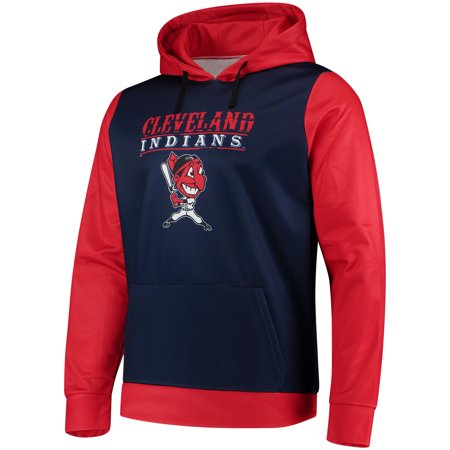 Mens Navy Cleveland Indians Cooperstown Collection Pullover Hoodie