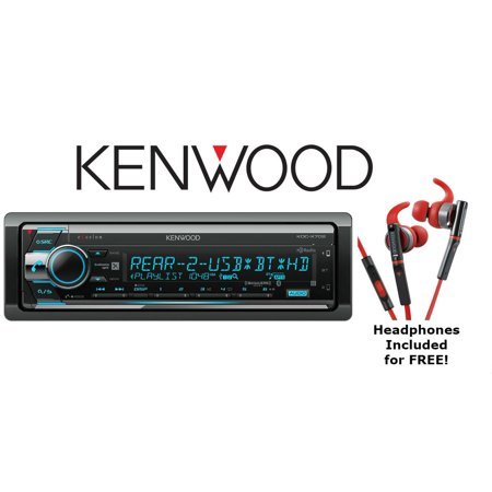 Kenwood Excelon KDC-X702 CD Player w/ Bluetooth + red In Ear Headphones Included (Kenwood Cd Player Remote)
