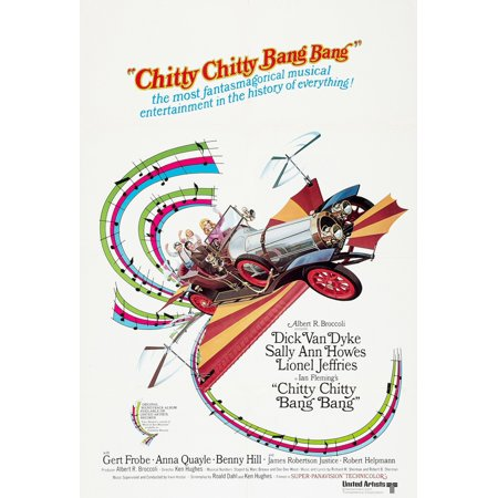 Chitty Chitty Bang Bang Dick Van Dyke Sally Ann Howes 1968 Movie Poster