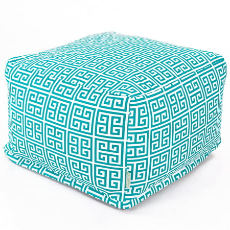 Majestic Home Goods Indoor Outdoor Treated Polyester Pacific Towers Ottoman Pouf ()