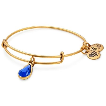 (Alex and Ani September Drop Charm Bangle Bracelet - Rafaelian Gold - A17EB48RG)