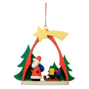 Christian Ulbricht Santa with Sled in arch Ornament