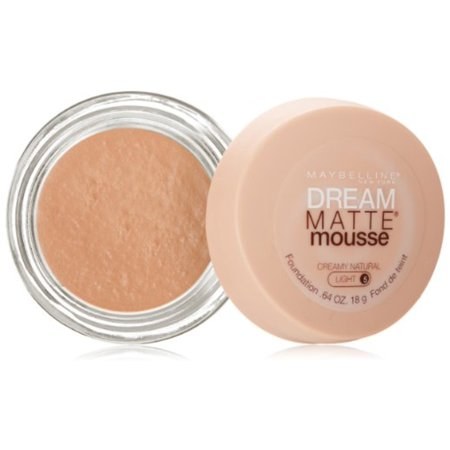 Maybelline Dream Matte Mousse Foundation, Creamy Natural, Light [5], 0.64