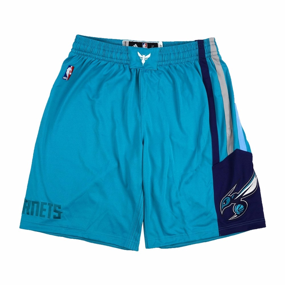 Charlotte Hornets NBA Adidas Teal Authentic On-Court Team Issued Pro Cut Game Shorts Shorts For Men