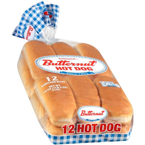 Bunny® Hot Dog Enriched Buns 8 ct Bag - Walmart.com