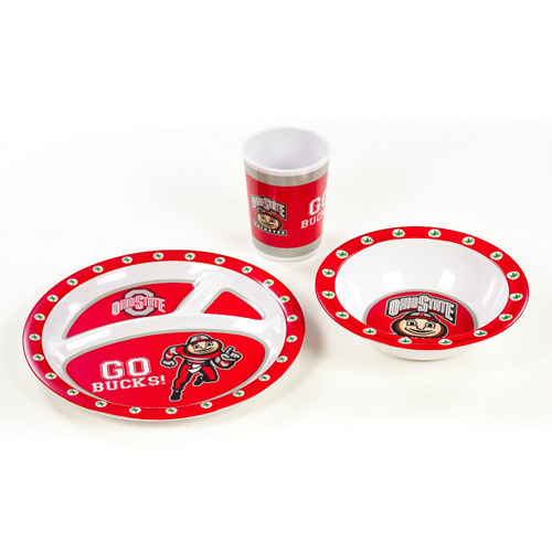 Ohio State Kids 3 Piece Dish Set (P)