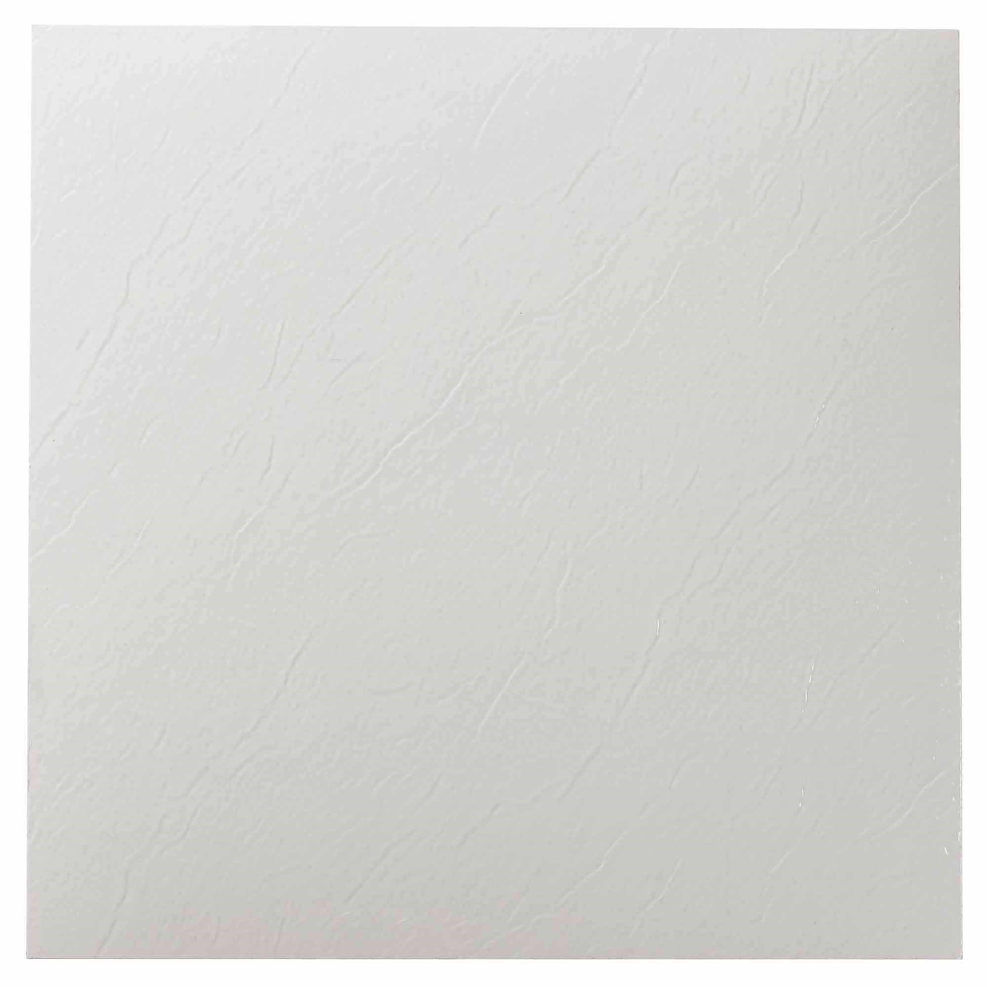 "Nexus White 12"" x 12"" Self-Adhesive Vinyl Floor Tile"
