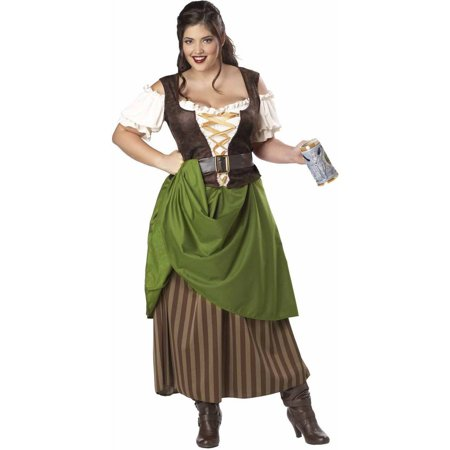 Plus Size Pebbles Costume (Tavern Maiden Plus Size Women's Adult Halloween)