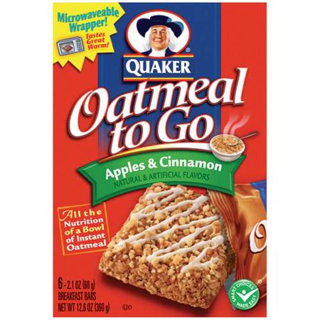Quaker To Go Apples & Cinnamon Oatmeal, 12.6 oz - Walmart.com