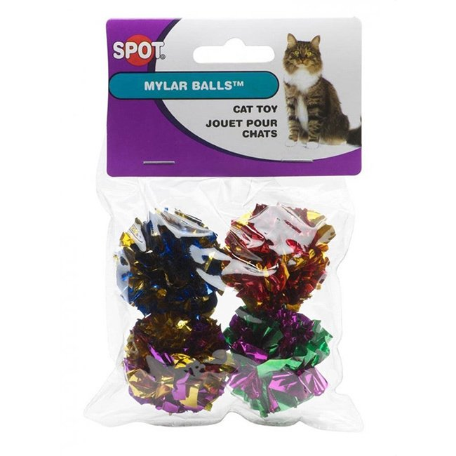 Ethical Pet Products Spot Ethical Mylar Ball Cat Toys (8 Count)