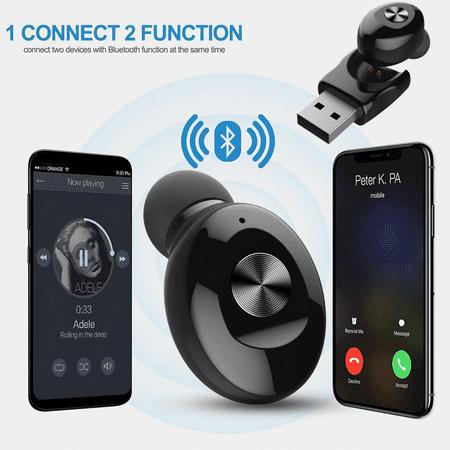 Wireless Bluetooth Stereo Headphone. Bluetooth V5.0 Earbud. Waterproof Sports Headset (Single+USB charging) - image 7 de 13