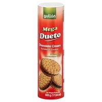 Gullon Mega Dueto Chocolate Cream Sandwich Cookies, 17.64 Oz.
