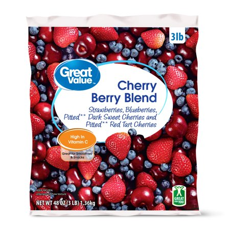 Great Value Cherry Berry Blend, 48 oz - Walmart com