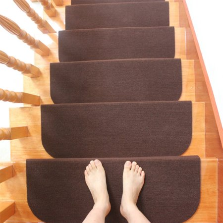 Non-slip Carpet Stair Treads Mats Staircase Step Rug Protection Cover Set