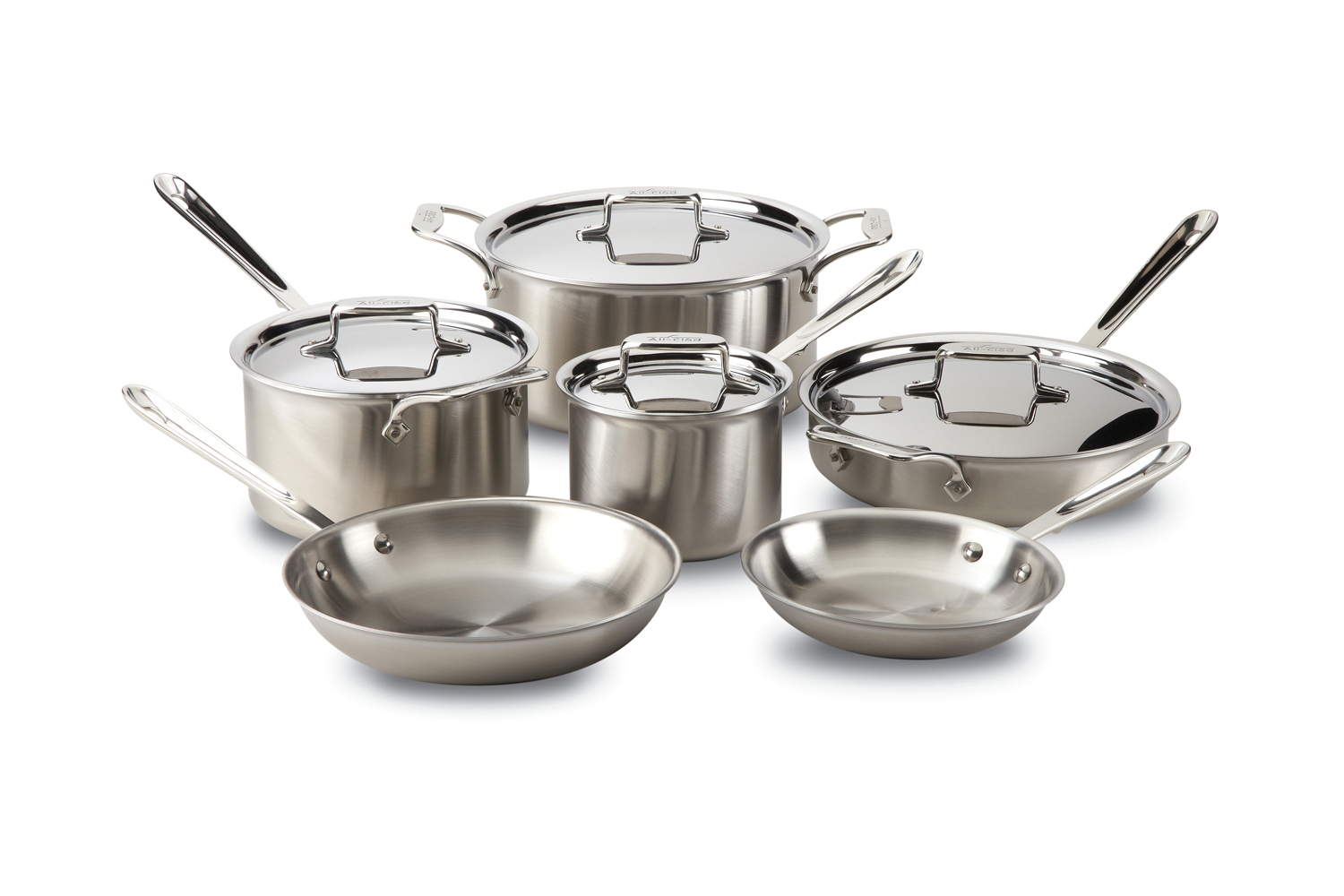All-Clad d5 Brushed Stainless 10 Piece Cookware Set (BD005710-R) by All-Clad