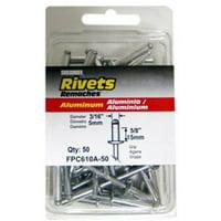 FPC610A-50 50-Pack Extra Long Aluminum Rivets - Quantity 1