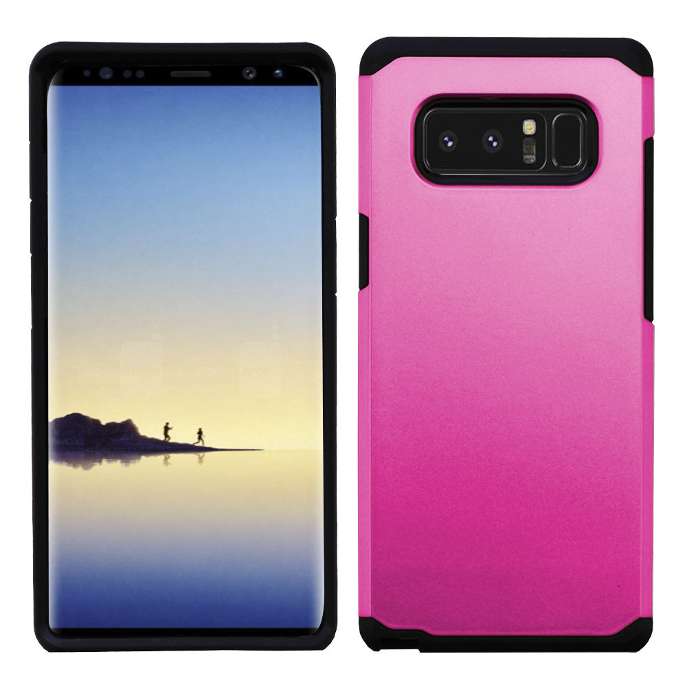Kaleidio Case For Samsung Galaxy Note 8 [Astro Armor] Rugged Slim Fit [Shock Absorption] [Dual Layer] Hard Hybrid Cover w/ Overbrawn Prying Tool [Pink/Black]