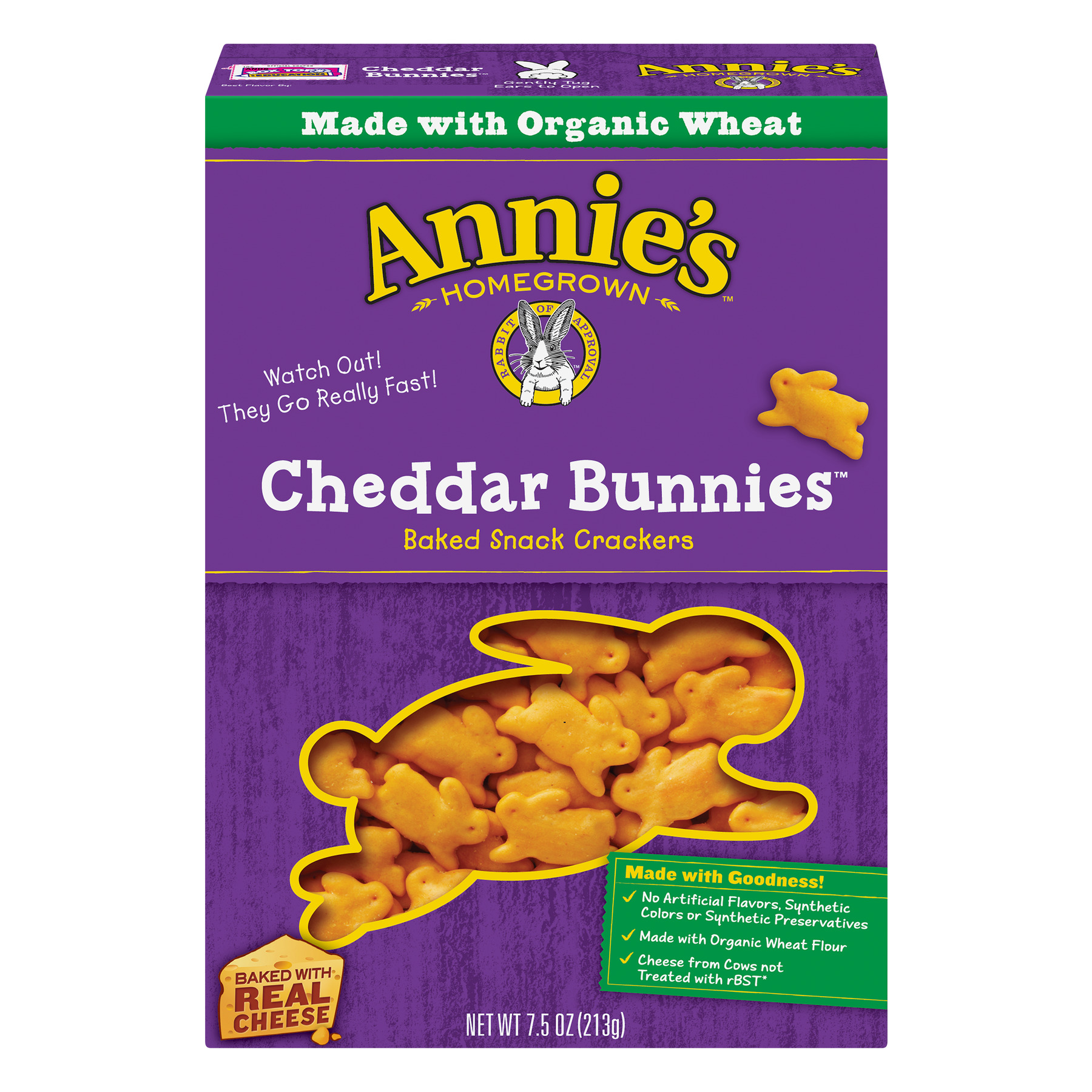 Annie's Cheddar Bunnies Baked Snack Crackers, 7.5 oz
