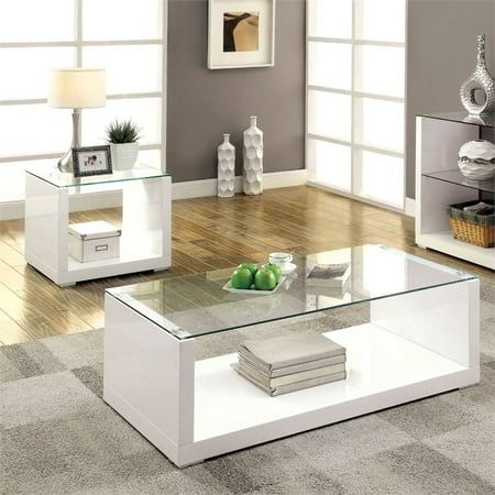 Furniture of America Delilah 2 Piece Coffee Table Set in ...