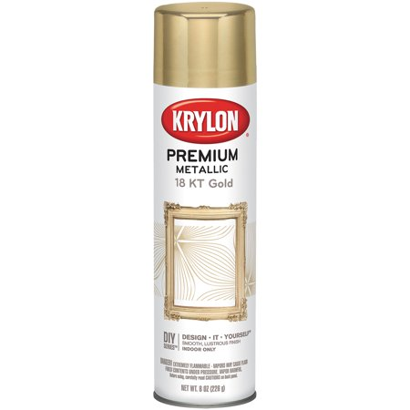 Krylon Premium Metallic 18 KT Gold Spray Paint, 8 Oz. ()