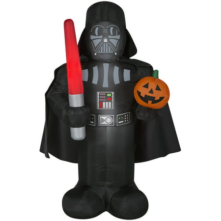 5' Star Wars Darth Vader w/ Pumpkin Halloween Inflatable - Halloween Pumpkins For Sale Melbourne