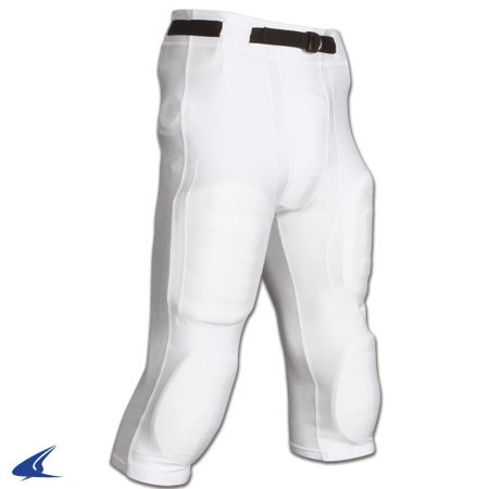 Champro Youth Goal Line Slotted Football Game Pants - White - Small