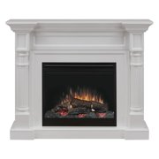 Dimplex Winston Mantel Electric Fireplace With Logs, White