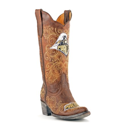 "Gameday Womens 13"" Brass Leather Purdue Cowboy Boots (Size 5.5) PUR-L164-1 New -  GameDay Boots, 0084867605650"
