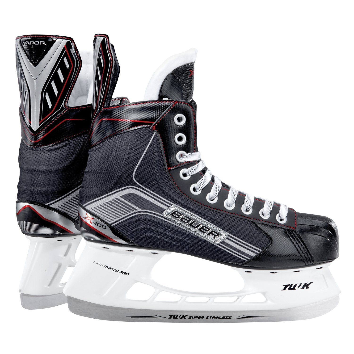 Bauer X400 Vapor Dynamic Speed Hockey Skates Mens Style: 1045935-blk D by Bauer