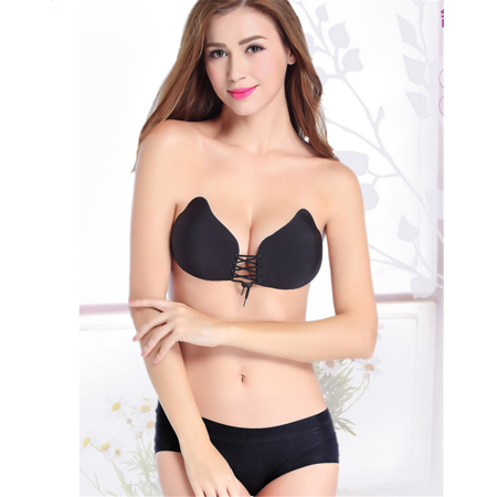 a56491050 Yosoo Women Breathable Self-Adhesive Breast Lift Push Up Silicone Invisible  Bra - image 1 ...