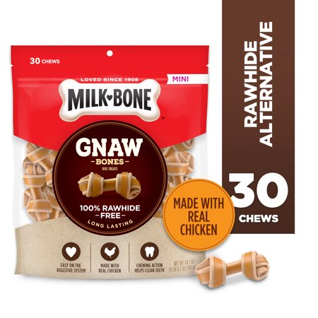 Milk-Bone GnawBones Knotted Bones, Rawhide-Free, Chicken, Mini, 19.1 Ounces