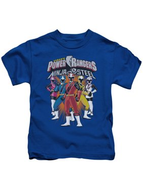Power Rangers - Team Lineup - Juvenile Short Sleeve Shirt - 7