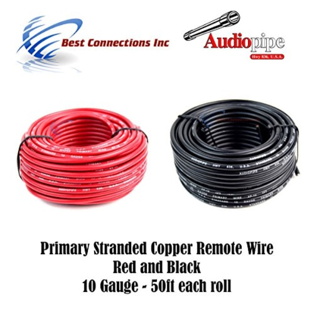 50 ft 10//2 AWG Duplex Round DC Marine Wire - Red//Yellow Made in the USA