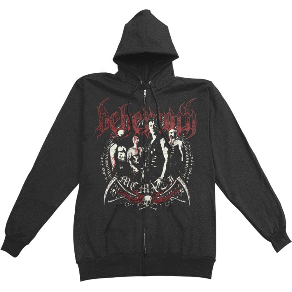 Behemoth Men's  Reaper Zippered Hooded Sweatshirt Black
