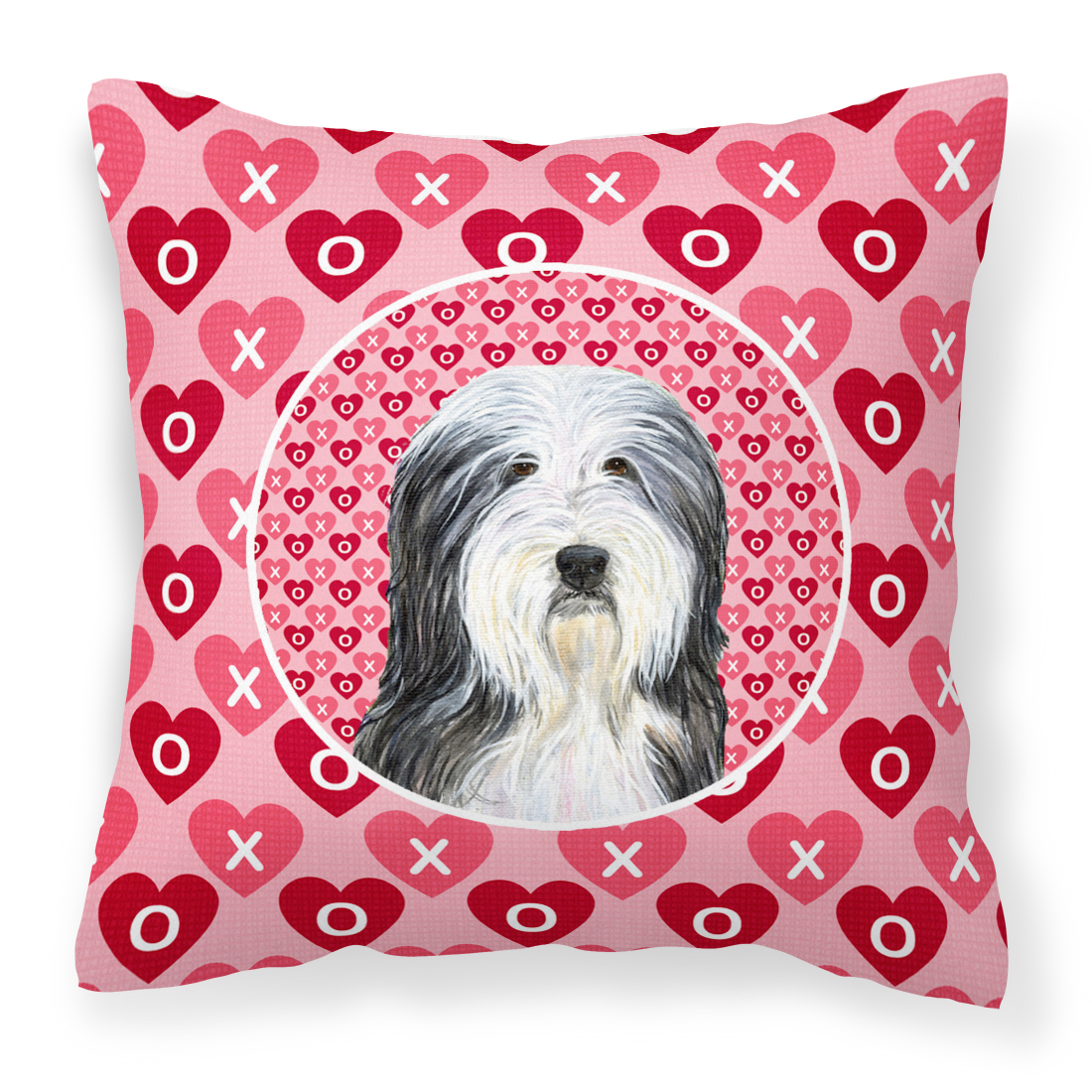 Bearded Collie Hearts Love And Valentine S Day Portrait Fabric Decorative Pillow Walmart Com Walmart Com
