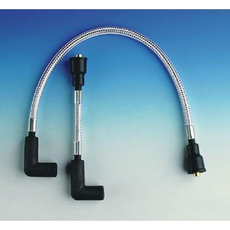 Magnum \'Sterling Chromite\' Silver Braided 8mm Spark Plug Wire Set ...