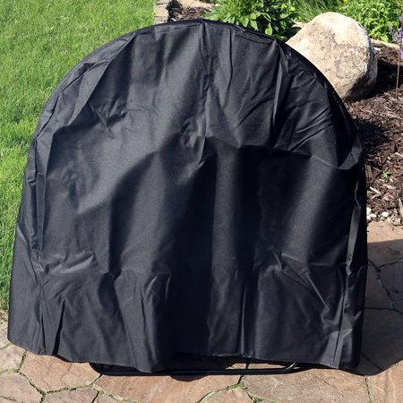 Outdoor Log Hoop (Sunnydaze Outdoor Log Hoop w/ Black Cover, 48 Inch Steel Firewood Rack)