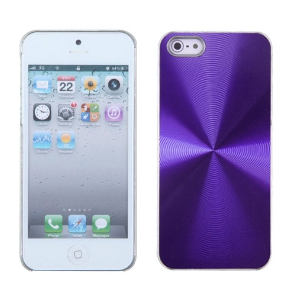 Insten Cosmo Aluminum Metallic Hard Case For Apple iPhone 5/5S/SE - Purple