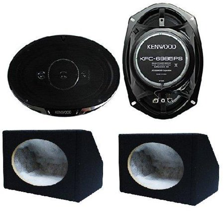 Kenwood KFC-6985PS 6x9 600 Watt 4-Way Car Audio Coaxial Speakers Stereo 6X9 box 6 X 9 Inches Angled/Wedge Box (Super Cab 6 Box)