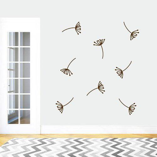 Ebern Designs Dandelion Seeds Wall Decal (Set of 8)