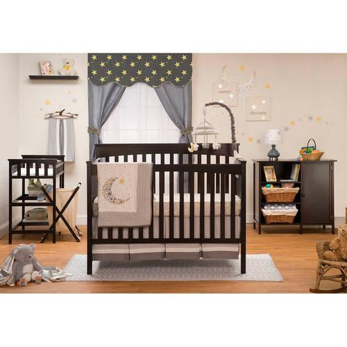 Sorelle Petite Paradise Elite 4-in-1 Crib, Changing Table and Organizer/Storage Unit, Espresso