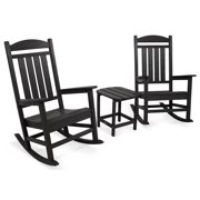 3-Pc Eco-friendly Presidential Rocker Set in Black